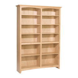 Unfinished McKenzie Bookcase - The McKenzie bookcases come in many sizes.