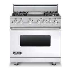 "Viking 36"" Pro-style Dual-fuel Range, White Natural Gas 