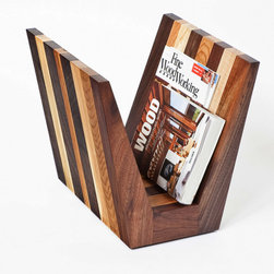 Cherrywood Studio - Hardwood Magazine Rack - this rack is created from off cuts of our larger projects.  We like to use as much of the salvaged wood as we can.  This rack makes a stunning and warm addition to any living space.