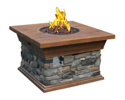 Phat Tommy - Yosemite Propane Fire Pit - Includes lava rock and nylon cover