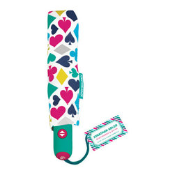 Jonathan Adler - Jonathan Adler Umbrella, House of Cards - Our Jonathan Adler umbrella keeps your poodle protected with this fabulously patterned umbrella. Gloomy never looked so good. You'll dazzle during the next rain shower when using one of Jonathan Adler's retro-chic umbrellas.