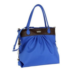 Hadaki Nylon Tote Around Pod - Cobalt with Aqua