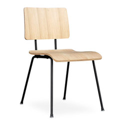 Gus Modern - School Chair by Gus Modern - Natural - A modern reinterpretation of the classic elementary school chair. Features a bent-plywood seat and back which are fastened to the frame with rubber shock mounts, which provide durability and add an industrial aesthetic.