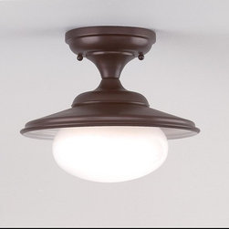 Hudson Valley Lighting - Hudson Valley Lighting 9101-OB Independence 1 Light Semi-Flush Mount, Old Bronze - This 1 light Semi Flush from the Independence collection by Hudson Valley Lighting will enhance your home with a perfect mix of form and function. The features include a Old Bronze finish applied by experts. This item qualifies for free shipping!
