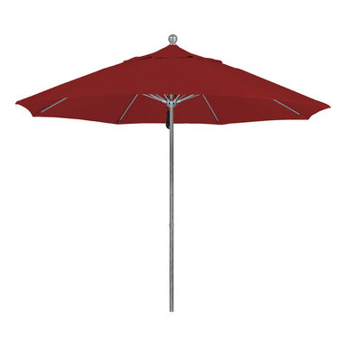 California Umbrella - 9 Foot Pacifica Fabric Aluminum Pulley Lift Patio Market Umbrella, Silver Pole - California Umbrella, Inc. has been producing high quality patio umbrellas and frames for over 50-years. The California Umbrella trademark is immediately recognized for its standard in engineering and innovation among all brands in the United States. As a leader in the industry, they strive to provide you with products and service that will satisfy even the most demanding consumers.