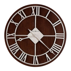 """Howard Miller - Howard Miller Prichard 15"""" Wall Clock in Satin Nickel Finish - Howard Miller - Wall Clocks - 625496 - For over 70 years, Howard Miller has understood the need to create products that are steeped in quality and value and to never expect anything less than the best. No matter the price of the purchase, you have Howard Miller's assurance of quality that is reflected in both the products they create, and in the people whose artistic talents they rely on to manufacture them. Incomparable workmanship. Unsurpassed quality. A quest for perfection."""