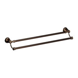 "Moen - Moen Creative Specialties Banbury 24 Double Towel Bar (Y2622BRB) - Moen Y2622BRB Creative Specialties Banbury 24"" Double Towel Bar, Mediterranean Bronze"