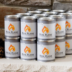 Grandin Road - Set of 12 Real Flame Gel Paks - Set of 12. Works with any ventless fireplace, fire pit, or accessory. Each 13 oz. pak burns up to 3 hours.