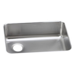 Elkay - Elkay Gourmet Undermount Reveal Sink with Left Drain (ELUH2317L) - Elkay ELUH2317L Gourmet Undermount Reveal Sink with Left Drain, Stainless Steel