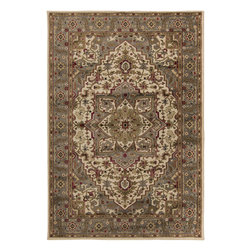 "Surya - Riley Rug RLY-5054 - 2' x 3'3"" - Both a bold zig-zag pattern and traditional organic pattern define the rugs in the Riley collection from Surya. While the zig zag pattern is a modern take on the traditional southwest style, the floral pattern of classic style is given a fresh perspective, combining it with geometric sections of different background colors. The Neural browns, tans and grays are delightfully balanced with a pop of cinnamon spice for added interest. Each rug is machine made in Turkey from 1% polypropylene."