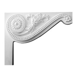 """Ekena Millwork - 8""""W x 6 1/2""""H x 3/4""""D Pearl Stair Bracket, Right - 8""""W x 6 1/2""""H x 3/4""""D Pearl Stair Bracket, Right. With the beauty of original and historical styles, decorative stair brackets add the finishing touch to stair systems. Manufactured from a high density urethane foam, they hold the same type of density and detail as traditional plaster stair bracket products. They come factory primed and can be easily installed using standard finishing nails and/or polyurethane construction adhesive."""