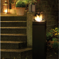 Hi Cube Fire Dance Tower - This is a cross between a fire pit and a torch.  Its a safe, funky way to light up a corner, staircase or even an indoor spot. Bring a modern flair to your back yard.
