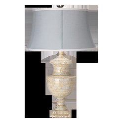 Jamie Young Co. Large Lee Urn Table Lamp in Mother of Pearl