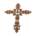 "AJcd-1014 - Cast Iron Cross Wall Hanger ch - 1014 - Cast iron cross wall hanger cd-1014. Measures 20"" x 16"". No assembly required."