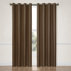 Eclipse - Eclipse Dane Grommet Blackout Window Curtain Panel - 12972052063BLK - Shop for Curtains and Drapes from Hayneedle.com! Transform both your sleep and your space with the Eclipse Dane Grommet Blackout Window Curtain Panel. This blackout curtain is perfect for any room any time of day. Independently tested to provide superior light-blocking (99% blockage of intrusive light!) noise-reducing and energy-saving benefits. Eclipse curtains feature a patented Thermaback process which means peace quiet and perfect light control. Whether you're a daytime sleeper a home-theater aficionado or your kids need consistent bedtimes you'll love Eclipse curtains. And thanks to their foam-back technology you can achieve not only the light and sound benefits but also maintain a stylish decor as these curtains drape and flow. Eclipse your old curtains with progressive technology. Machine-washable. Includes one curtain panel. Curtain rod sold separately.