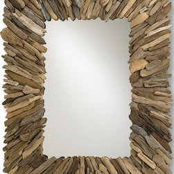Currey & Co Beachhead Mirror - It's no secret I'm crazy for anything made of driftwood, and this smashing mirror is no exception. The way all of the pieces are oriented toward the center makes it dynamic.