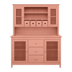 """Large Charlie Buffet & Hutch - Never one to say """"I can't do it"""", and voted most likely to succeed, the Charlie Buffet & Hutch does not disappoint: offering up storage solutions, adept at pitching in when you're entertaining - a true gentleman. Available in one of 50 signature Maine Cottage® colors."""
