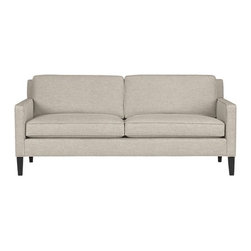 Vaughn Apartment Sofa   Crate&Barrel - A sofa is a big purchase, and you certainly don't want to choose one you'll be sick of in a few years. That's why the Vaughn from Crate and Barrel is a good choice. It's got clean lines, it's tailored, it has nice simple legs and this is the perfect neutral hue.