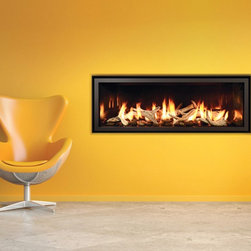 Modern and Bold Linear Gas Fireplace -