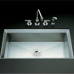 """KOHLER - KOHLER K-3387-NA Poise 33"""" x 18"""" Undercounter Single Basin Kitchen Sink - KOHLER K-3387-NA Poise 33"""" x 18"""" Undercounter Single Basin Kitchen Sink"""