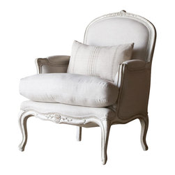 Eloquence Inc - La Belle Bergere in Oyster - Sit softly upon this lovely la Belle Bergere in Gesso and Oyster