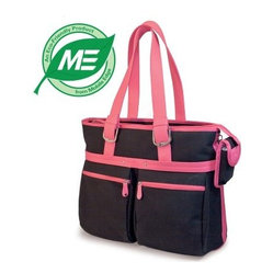 Mobile Edge 16 Inch Komen Eco Friendly Tote - Black with Pink Trim