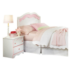 Standard Furniture - Standard Furniture Bubblegum 2-Piece Headboard Bedroom Set in White and Pink - Bubblegum bedroom is adorably cute and charmingly sweet, and is lavished with lots of girlie-girl details.