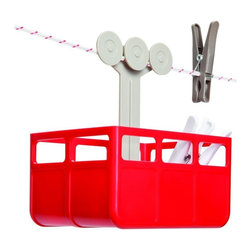 Cabina Laundry Clothespins Basket, Red/White - I don't hang laundry by a clothesline, but if I did, I think I would need a Cabina.