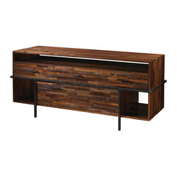 Four Hands - Carson Dresser - You'll love the sleek, streamlined profile and warm wood patina of this hand-crafted dresser. The design combines steel and walnut for here-there-anywhere storage to organize everything from socks to silverware.