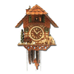 ROMBACH UND HASS - Cuckoo Clock One Day Musical Movement with Animated Chimney Sweep and Waterwheel - Swiss-made music box mechanism