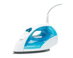 PANASONIC - Panasonic NIE200T White Blue Iron 360-Degree Steam Dry U Shape - Panasonic NIE200T White Blue Iron 360 Degree Steam Dry U Shape