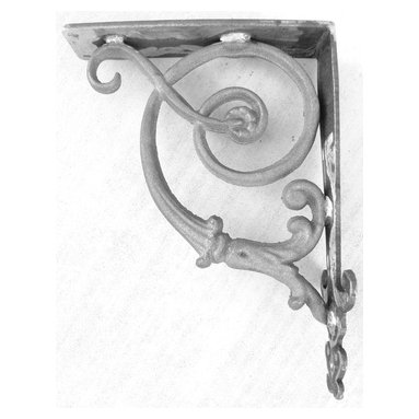 Brittany Iron Bracket - This is the Brittany bracket, which is perfect for shelf and countertop support.  We offer this bracket in many finishes, visit our site for more options.