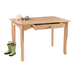 """KidKraft - Kidkraft Kids Room Decorative Traditional Avalon Wooden Furniture Table Natural - Crafted from solid wood, KidKraft's Avalon table echoes the elegant simplicity of Shaker-style furniture. Timeless in design, and at home in a traditional or contemporary nursery or play-area, the Avalon table is """"kid-sized"""" at 24""""H, and is specially designed to accommodate the growing child. Dimension: 35.75""""Lx 23.75""""Wx 24.25""""H"""