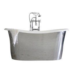 "Penhaglion - 'The Westminster59' 59"" Cast Iron French Bateau Tub Package from Penhaglion - Product Details"