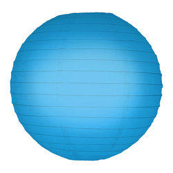 """LumaBase Luminarias - Paper Lanterns (10"""") 5 Count Bluebell Turquoise - Round paper lanterns are an economical way to add color and dimension to your event. They will create a beautiful ambiance day or night. Use them on tree branches, under a party tent, above a dinner table or under a patio umbrella. They'll add a touch of flair and a festive feel any way you use them."""