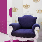 Queen Crown Wall Art & Furniture Stencil - Queen Crown wall art and motif stencil from Royal Design Studio Stencils. Great for walls and furniture.