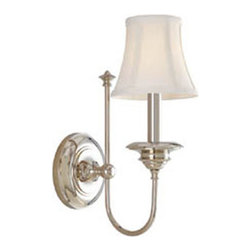 Hudson Valley Lighting - Hudson Valley Lighting 8711-PN Yorktown 1 Light Wall Sconce, Polished Nickel - This 1 light Wall Sconce from the Yorktown collection by Hudson Valley Lighting will enhance your home with a perfect mix of form and function. The features include a Polished Nickel finish applied by experts. This item qualifies for free shipping!