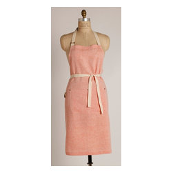 Birdkage - Salmon Classic  Bib Apron - You won't have to swim upstream to score this all-purpose apron in a universally flattering shade. It's got great coverage and durable details including blue jean rivets and sturdy cotton ties.