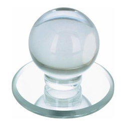 Richelieu Hardware - Richelieu Contemporary Acrylic Round Door Knob 1 7/8 Inch Clear - Richelieu Contemporary Acrylic Round Door Knob 1 7/8 Inch Clear