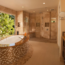 Contemporary Bathroom by Timeline Design