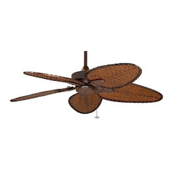 Windpointe Ceiling Fan in Rust with Bamboo Blades