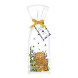 """Mary Lake- Thompson Ltd. - Beehive with Thistle Towel Set - - Set of two flour sack towels- Towel comes with matching ribbon and tag- Great for drying dishes and cleaning up!- Towel 30"""" x 30"""" featuring beautiful design by artist Mary Lake-Thompson."""