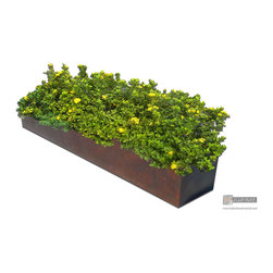 Pre-weathered copper planters, window and flower boxes - Pre-weathered copper flower box