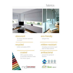 Fabrics - Obscurant, Eco-Friendly, Recycled, Mildew Resistant, Coated, Antibacterial
