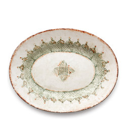 Arte Italica - Chianti Large Oval Platter - Your big, beautiful meals deserve to be served on this impeccable piece. Handmade and imported from Italy, its rich yet subtle colors and charming rustic pattern evoke the vibe of a Tuscan villa. Mangia!