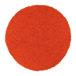 St Croix Trading - Hand-woven Shagadelic Orange Chenille Rug (5' Round) - Give your space a retro edge with this funky chenille rug. Featuring a unique twisting method,this hand-woven rug made of super-soft chenille has a shag finish in a bold orange color. The ultra plush pile makes this rug a vibrant addition to any room.