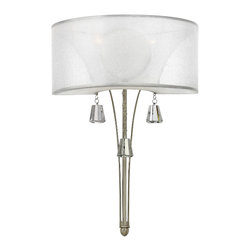 Fredrick Ramond - Fredrick Ramond Mime 2-Light Sconce - This elegant collection in our Brushed Nickel and French Bronze
