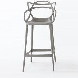 Kartell - Masters Bar Stool - Quick Ship | Kartell - Design by Philippe Starck and Eugeni Quitllet.