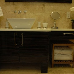 contemporary bathroom by Nicole White Designs Inc