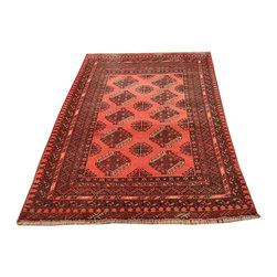 Hand Knotted 3X6 100% Wool Good Condition Old Persian Red Turkoman Rug SH6887 - This collections consists of well known classical southwestern designs like Kazaks, Serapis, Herizs, Mamluks, Kilims, and Bokaras. These tribal motifs are very popular down in the South and especially out west.